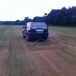 Drag matting with the van