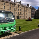 mowing at collins barracks
