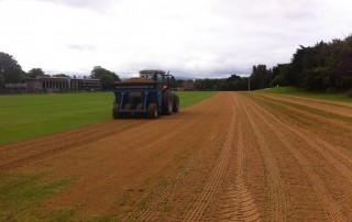 Top dressing Pitches at St. Pats College.JPG