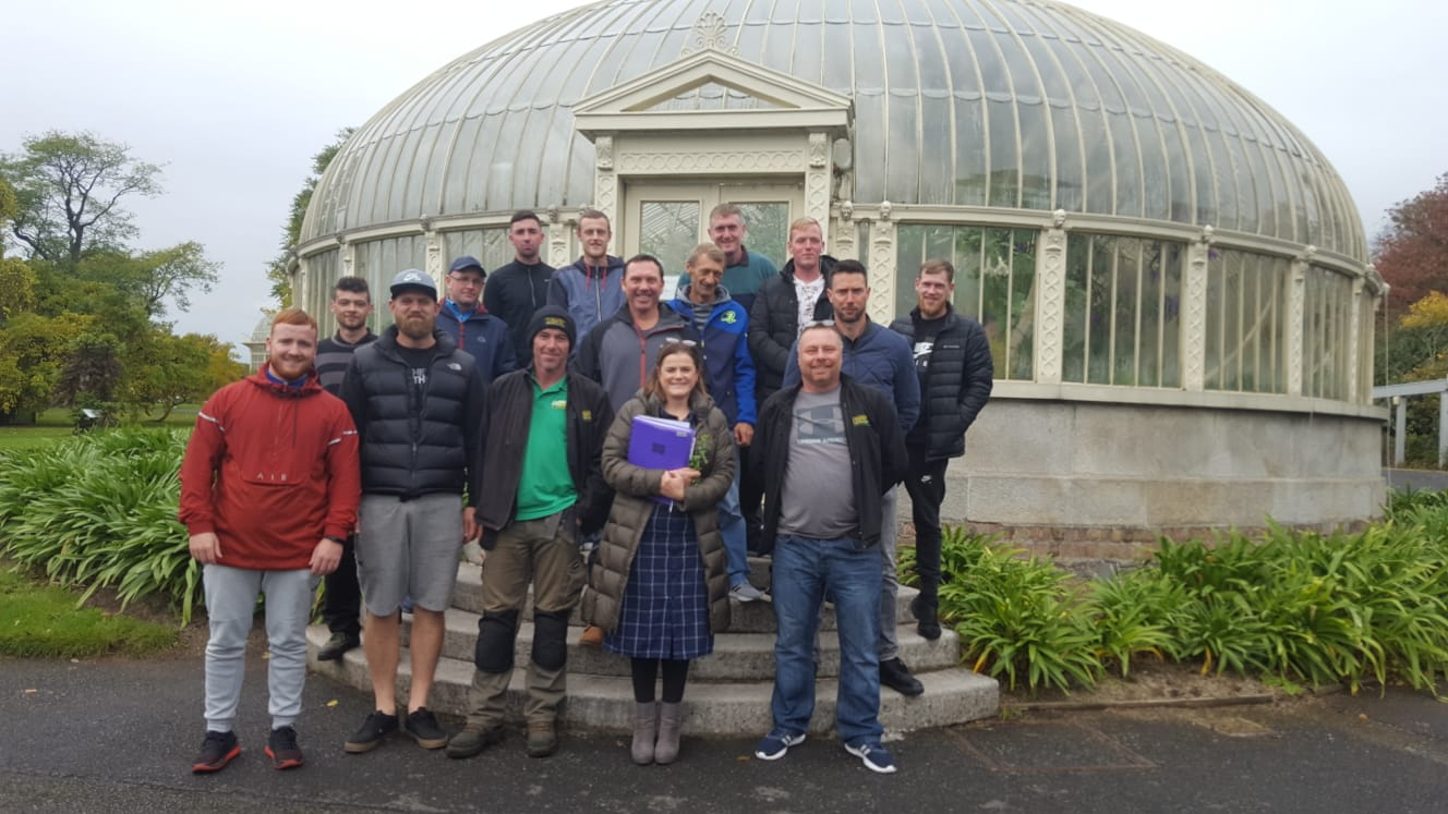 the obriens team with teaching staff from the national botanic gardens
